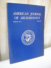AMERICAN JOURNAL of ARCHAEOLOGY 1976 N°1
