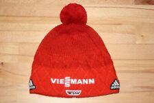 DSV Adidas Viessmann Mütze Beanie Bommelmütze Skimütze Strickmütze Rot Gr. L/XL
