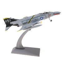 1/100 Scale F-4 Fighter Phantom II Attacker Diecast Metal Model & Stand