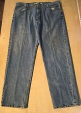 Men's Harley Davidson Blue Denim Jeans Sz 44 x 34 Genuine Motor Clothes (B30)