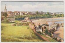 Wales postcard - Tenby from Castle Hill
