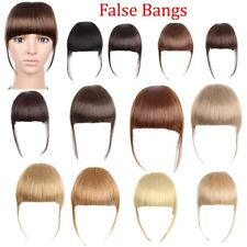 Clip in Bangs Fake Hair Extension False Hair Piece Clip on Front Neat Bang New