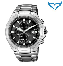 Citizen Super Titanium Chronograph Armbanduhr CA0700-86E Saphir Eco-Drive Herren