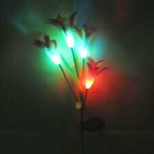 Lily Flower LED Light Creative Garden Yard Lawn Night View Lamp Solar Power