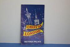 More details for carry on london victoria palace vintage brochure sid james, barbara windsor 1974