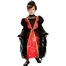 Girls Gothic Princess Lite-up Fiber Optic Halloween Costume Size 4-6X NIP