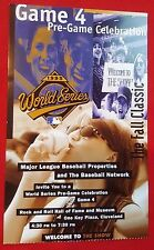 1995 WORLD SERIES Pre-GAME CELEBRATION PARTY TICKET Game 4 ROCK & ROLL HOF MINT!