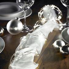 LED Lichterschweif Silber Draht Lichterkette 200leds festliche Oster Beleuchtung