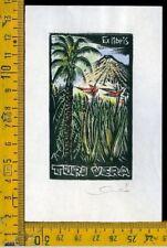 Ex Libris Originale Karoly Andrusko Jugoslavia  b 356 Turi Vera
