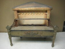 vintage antique cast iron & ceramic fireplace insert gas heater Ohio Radiant