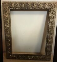 Picture Frame Antique Vintage Gold Gilt Wood Gesso Ornate Victorian 11 X 14