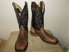 Mens 11 D Concealed Carry Square Toe Roper Western Cowboy Boots  New USA