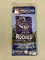 "Wincraft Factory Sealed Colorado Rockies 27""x37"" Vibrant Vertical Team Flag MLB"