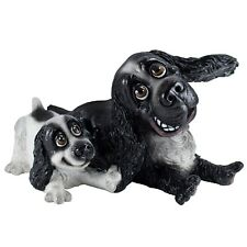 """Pets With Personality Cocker Spaniel and Pup Figurine 7.5"""" Long New In Box!"""