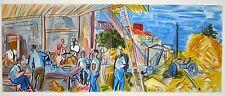 """""""Les moissonneurs"""" lithographie signée Raoul Dufy"""