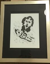 Marc Chagall Pencil Signed By Hand Lithograph Designs, Aquarelles