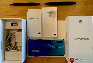 Huawei P30 Lite - 256GB - Peacock Blue (Unlocked) MAR-LX1B  (Dual Sim) Bundle