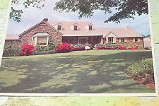 """Ranch Homes"" Litho In U.S.A. Large Photo Print 1950's, 12"" x 17"" FREE SHIP!"