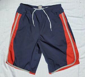 NIKE Men XL Swim Trunks Board Shorts Basketball Blue Red Gray Stretch Never Worn