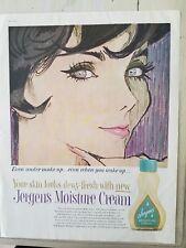 1959 Jergens moisture cream skin Dewey fresh under makeup ad