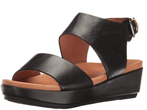 Gentle Souls by Kenneth Cole Lori Black Wedge Sandal Women's sizes 6-11/NEW!!
