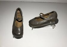 Taos Transit Gray Distressed Leather Mary Jane Shoes 39 Womens Us 8