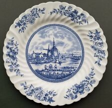 "China Plate ""Tulip Time"" in blue made by Johnson Bros.in England"