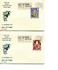 Isle of Man 1979 First day of Xmas Rates covers, Ramsey cancel