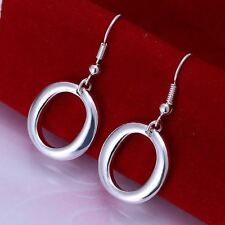 Unbranded Silver Plated Oval Stone Hook Costume Earrings