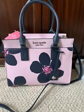 💙 NEW KATE SPADE Cameron GRAND FLORA Satchel Shoulder Tote Bag Serendipity PINK