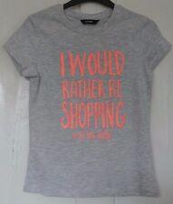New Girls 100% cotton Tshirt grey 7-8 years