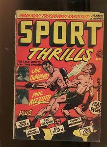 SPORTS THRILLS #12 (3.0) LB COLE! 1950