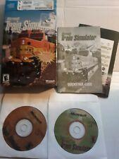 Microsoft Train Simulator (PC, 2001) 2-disk Windows Complete  W/ Box & Manual