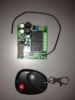 Handsender und Funkschalter für 2 Geräte, Garagenöffner Licht,Schaltfunkt Taster