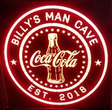 Personalized Coca-Cola Coke 12 x 12 Multi color LED Sign led box with remote