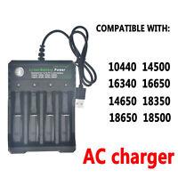4 Slots Caricabatteria ricaricabile intelligente Li-ion USB 18650 16340 14500