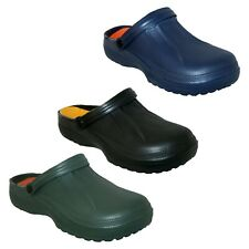 MENS GARDEN BEACH POOL MULE CLOG SLIP ON SHOE WITH REMOVABLE INSOLE 3 COLS 7-11