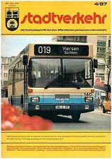 STADTVERKEHR 4/87 Dresden Stockholm Hamburg Köln Tatra