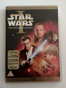 STAR WARS - LA AMENAZA FANTASMA -  2 DVD - THE PHANTOM MENACE - AUDIO EN INGLES