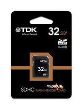 TDK 32gb CLASE 10 SDHC tarjeta SD