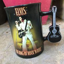 Elvis Presley TCB Eagle White Jumpsuit Guitar Handle Mug Graceland