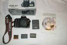 Canon EOS 30D 8.2MP Digital SLR Camera - Blk (Body, 32GB, Charger, 2 batteries)