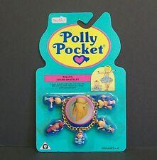VINTAGE Polly Pocket-Bracciale con Charm 1992, nuovo e sigillato su carta, rara.