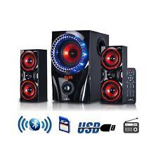 Bluetooth Surround Sound Speaker Sound 2.1 Channel  System Red USB/SD/FM Radio