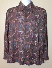 Vintage 70s Kmart Dacron Polyester Saturday Night Fever Disco Shirt Mens Large