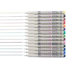 SAKURA PIGMA MICRON FINELINER PIGMENT Ink PEN!Sakura Pens with 1 MEEDEN Pen Case