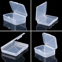 Mini Clear Plastic Storage Box Jewelry Tool Craft Container Beads Organizer Case