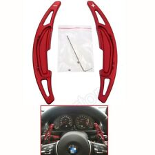 Alloy Steering Wheel Shift Paddle Shifter Extension For BMW M3 M4 M5 M6 X5M Red