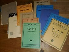 11 books of cello solos, duets, collections sheet music .No Reserve