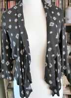 New Look Ladies Black & White Patterned Jacket Size 10